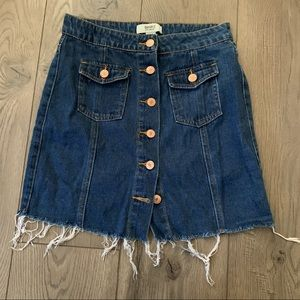 Forever21 Button Up Jean Skirt